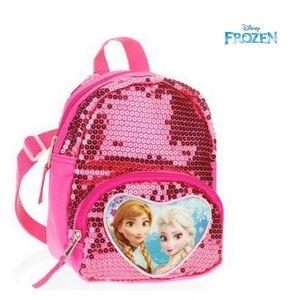 """Frozen """"Elsa Ana"""" Pink Sequin Mini Backpack"""